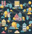 seamless city pattern vector image