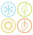 set icons season image season winter spring vector image vector image