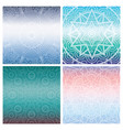 set of cards with indian mandala on blue gradient vector image vector image