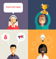 Set of Flat Design with Business Portraits vector image vector image