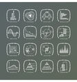 set of grunge web icons vector image vector image