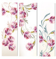 set of three vertical floral banners for your vector image vector image