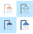 shower icon set in flat and line style vector image vector image