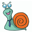 Snail and tie t-shirt design vector image vector image