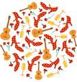 spanish fair circular pattern flamenco shoes vector image