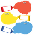 Squeezed Primary Color Tubes vector image vector image