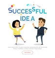 Successful Idea Web Banner in Flat Design vector image