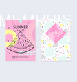 summer party poster pattern set geometric memphis vector image vector image
