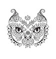 the mask of cat vector image