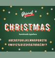 vintage 3d christmas striped alphabet vector image vector image