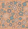 vintage seamless flower pattern vector image vector image