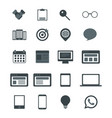 web icons for business finance and communication vector image