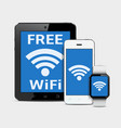 wireless technology gadgets and wifi internet vector image