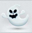 with 3d funny ghost template vector image vector image
