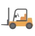 Yellow forklift truck vector image