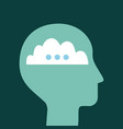 head silhouette mind vector image