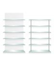 Empty shop glass shelves vector image