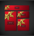 set of design elements for holiday package design vector image