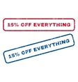 15 Percent Off Everything Rubber Stamps vector image vector image
