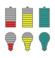 A set of indicators vector image vector image