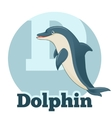 ABC Cartoon Dolphin vector image vector image