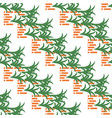 abstract pattern with bricks and leaves on white vector image vector image