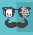 abstract portrait of retro man in glasses vector image vector image