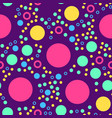 abstract seamless pattern with circles on violet vector image vector image