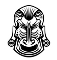ancient tribal religious mask isolated on white vector image vector image