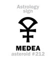 astrology asteroid medea vector image vector image