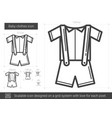 baby clothes line icon vector image vector image
