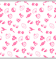 Baby seamless pattern background vector image