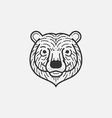 Bear Line Mono vector image vector image