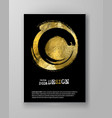 black and gold design templates vector image vector image
