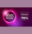 black friday discount banner lettering with vector image vector image