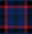 blue black and red tartan plaid seamless pattern vector image vector image