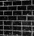 brick wall in grunge style vector image vector image