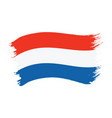 brushstroke painted flag netherlands vector image