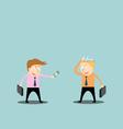 Businessman trading ideas vector image vector image