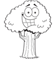 Cartoon smiling tree vector image