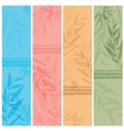 Colorful banners with the tree branches vector image vector image