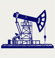 Concept of oil industry vector image