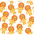 Cute cartoon lion seamless texture vector image vector image