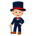 cute magician cartoon vector image vector image