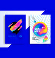 electronic music fest summer wave party poster vector image vector image