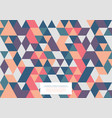 geometric abstract pattern collection triangular vector image vector image