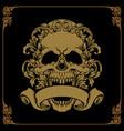 gold skull ornaments vector image