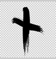hand drawn cross grunge cross cross made vector image