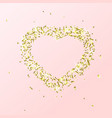 heart flying particles gold vector image vector image
