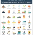 heavy and power industry color flat icon vector image vector image